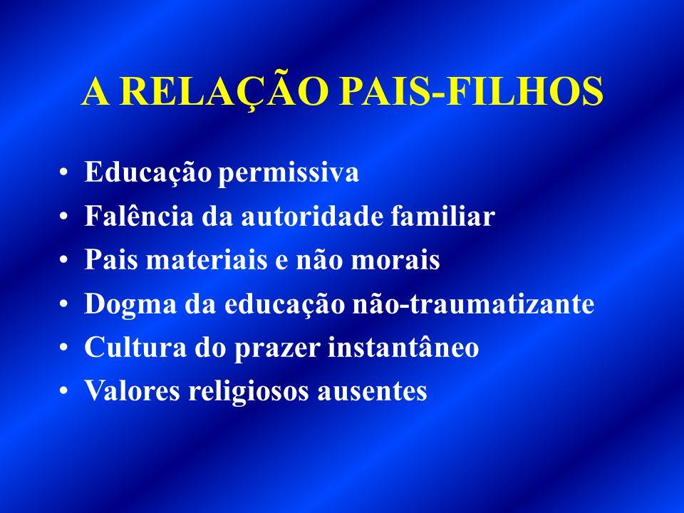 A RELAÇÃO PAIS-FILHOS Educação permissiva