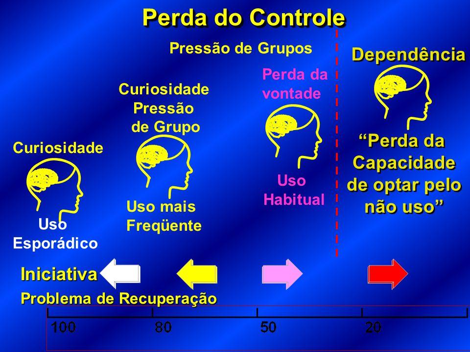 Perda do Controle Dependência Perda da Capacidade de optar pelo
