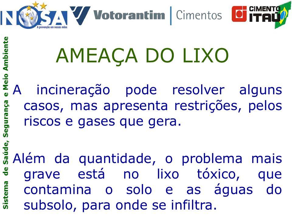 AMEAÇA DO LIXO A incineração pode resolver alguns casos, mas apresenta restrições, pelos riscos e gases que gera.