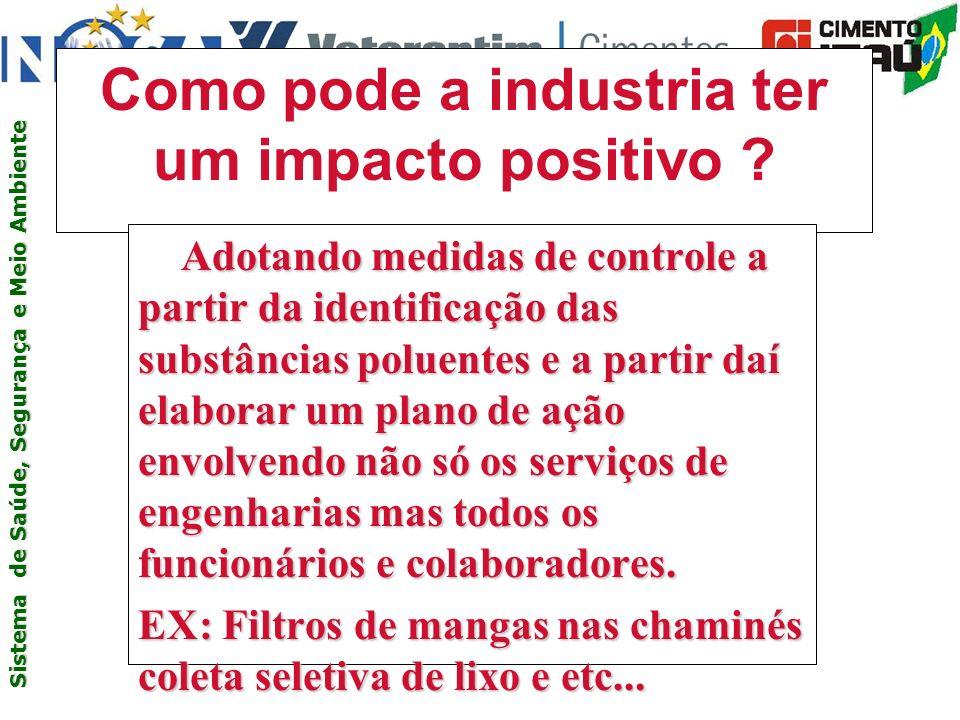 Como pode a industria ter um impacto positivo