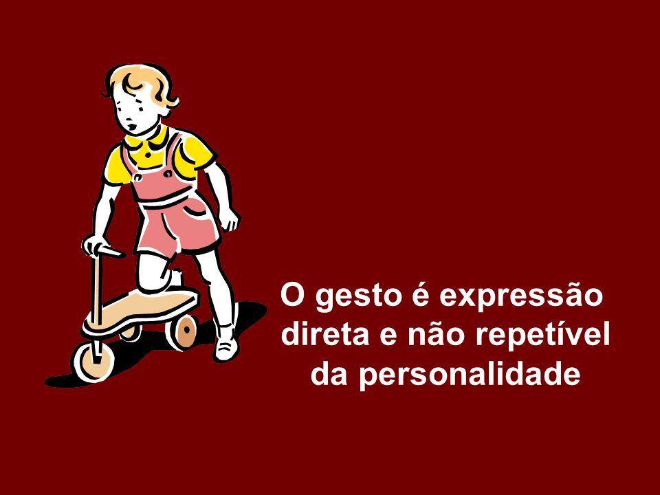O gesto é expressão direta e não repetível da personalidade