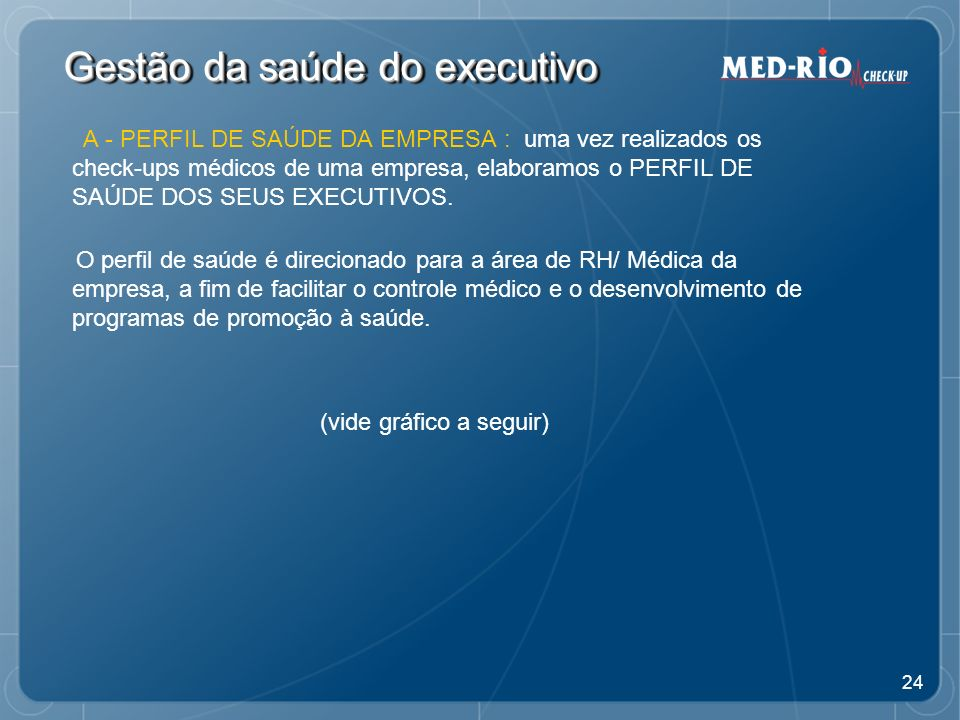 Gestão da saúde do executivo