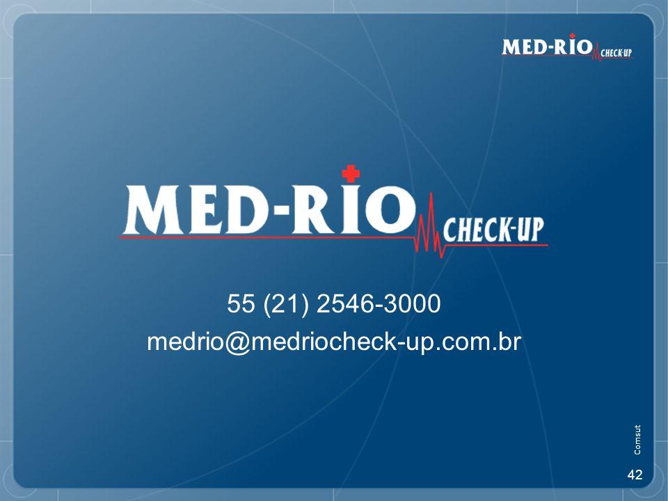 55 (21) 2546-3000 medrio@medriocheck-up.com.br