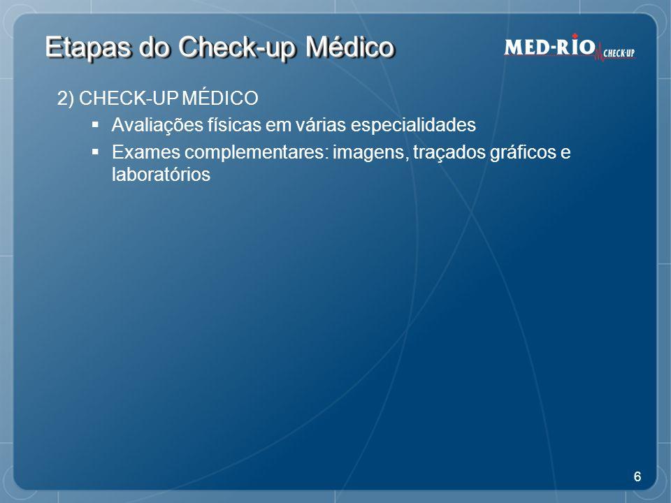 Etapas do Check-up Médico