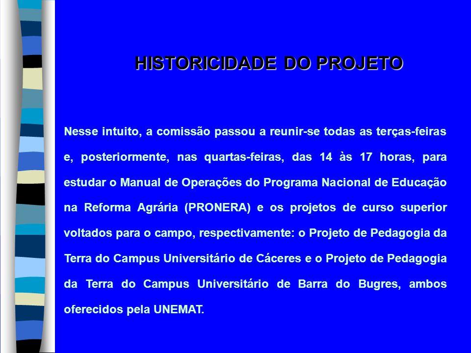 HISTORICIDADE DO PROJETO