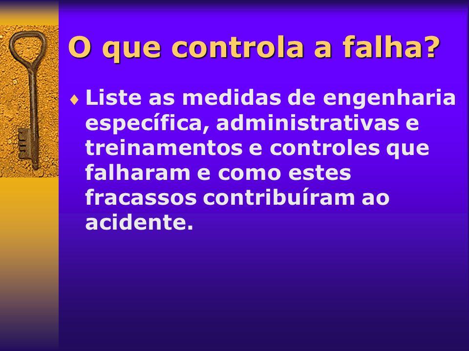 O que controla a falha