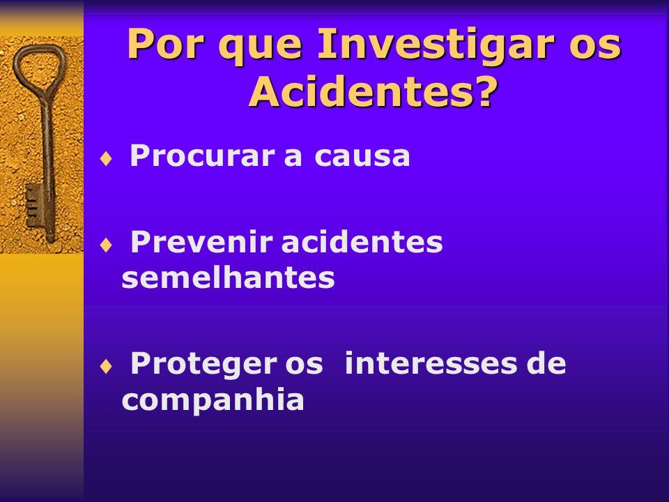 Por que Investigar os Acidentes
