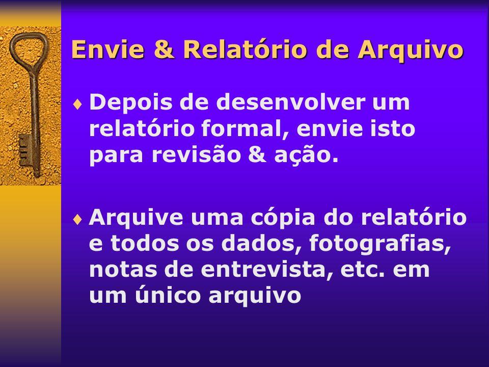 Envie & Relatório de Arquivo