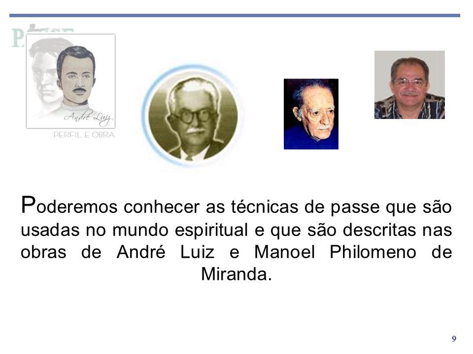 Poderemos conhecer as técnicas de passe que são usadas no mundo espiritual e que são descritas nas obras de André Luiz e Manoel Philomeno de Miranda.