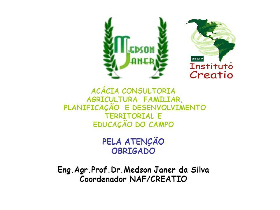 Eng.Agr.Prof.Dr.Medson Janer da Silva Coordenador NAF/CREATIO