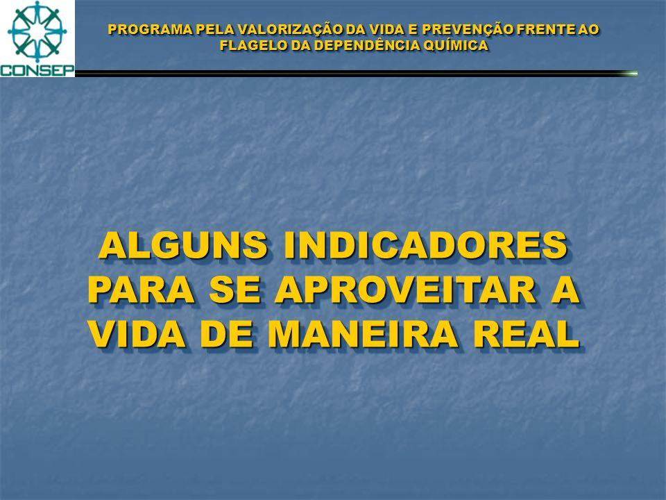 ALGUNS INDICADORES PARA SE APROVEITAR A VIDA DE MANEIRA REAL