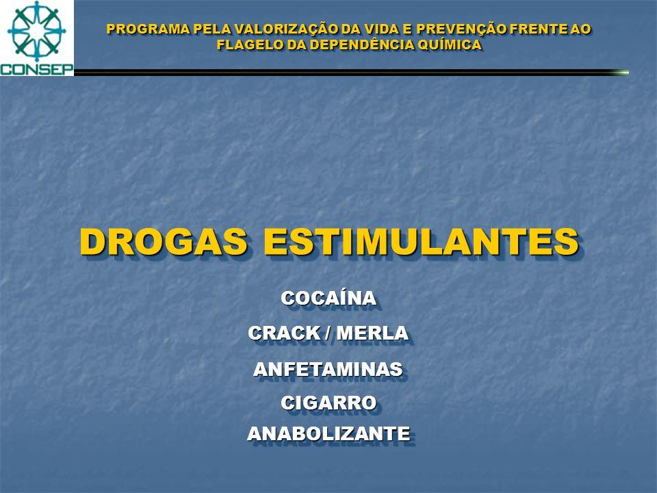 DROGAS ESTIMULANTES COCAÍNA CRACK / MERLA ANFETAMINAS CIGARRO