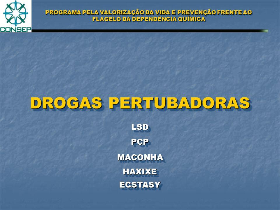 DROGAS PERTUBADORAS LSD PCP MACONHA HAXIXE ECSTASY