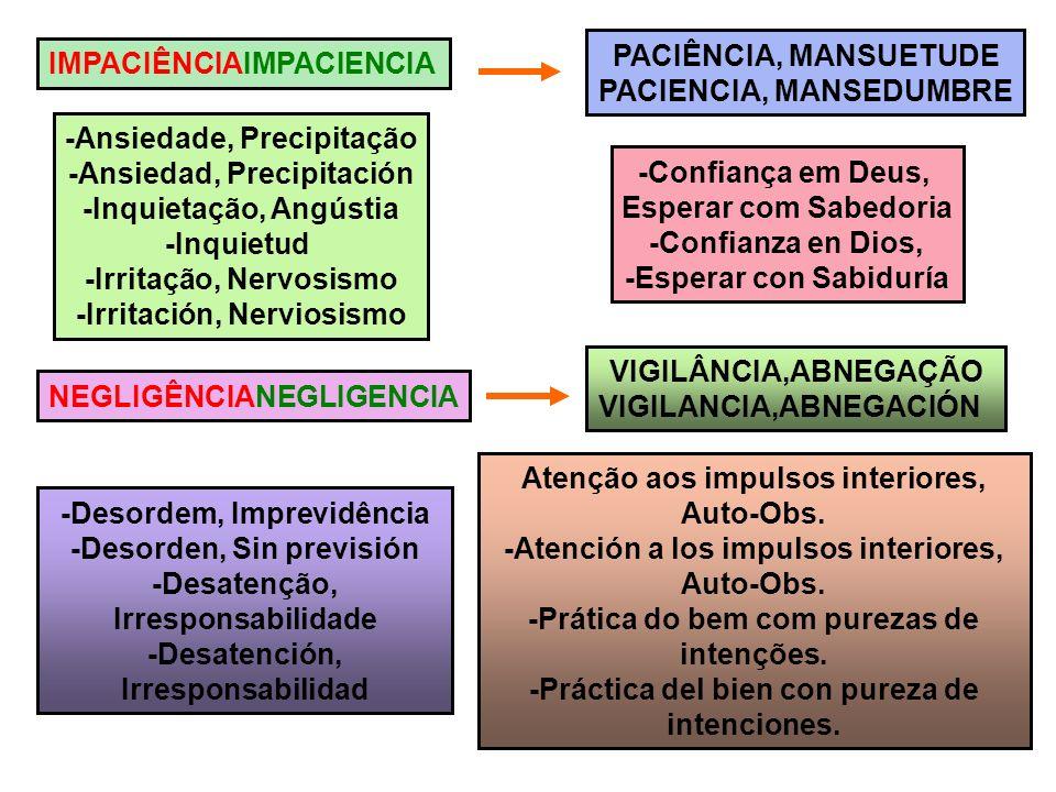 PACIENCIA, MANSEDUMBRE IMPACIÊNCIAIMPACIENCIA
