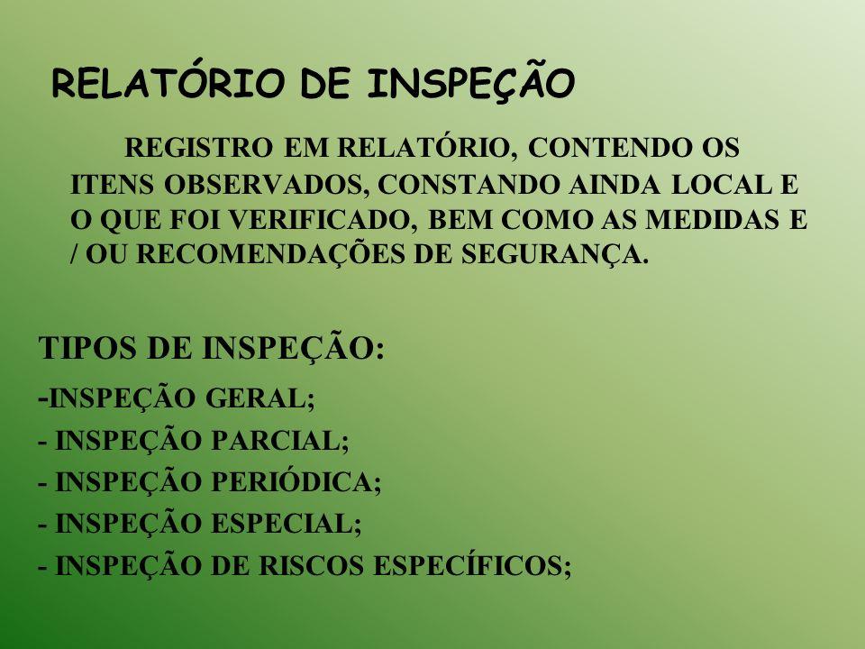 RELATÓRIO DE INSPEÇÃO