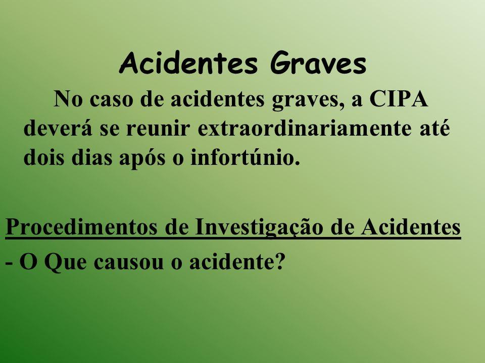 Acidentes Graves Procedimentos de Investigação de Acidentes