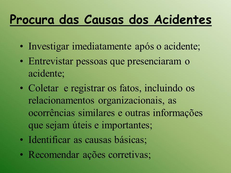 Procura das Causas dos Acidentes