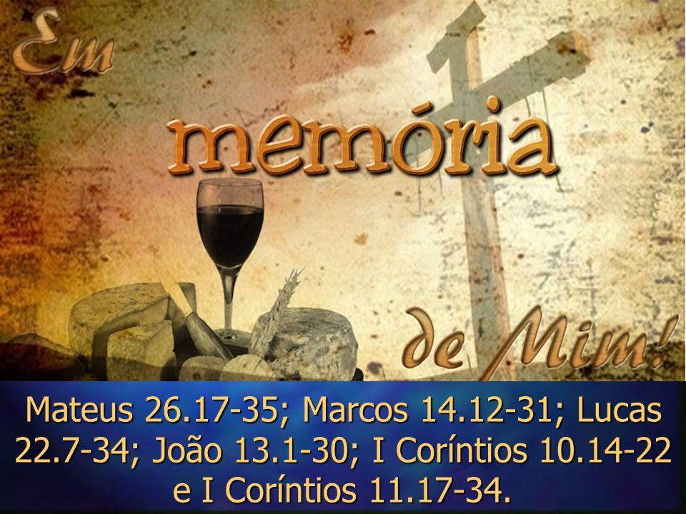 Antes de entendermos e aplicarmos os ensinamentos do memorial da ceia do Senhor precisamos entender o que vem um pouco antes da ceia...