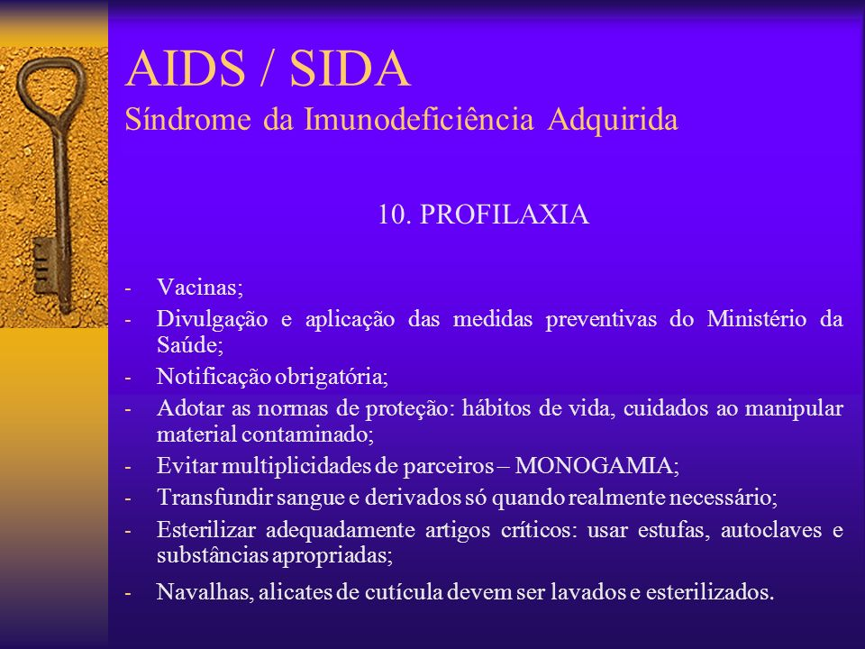 AIDS / SIDA Síndrome da Imunodeficiência Adquirida