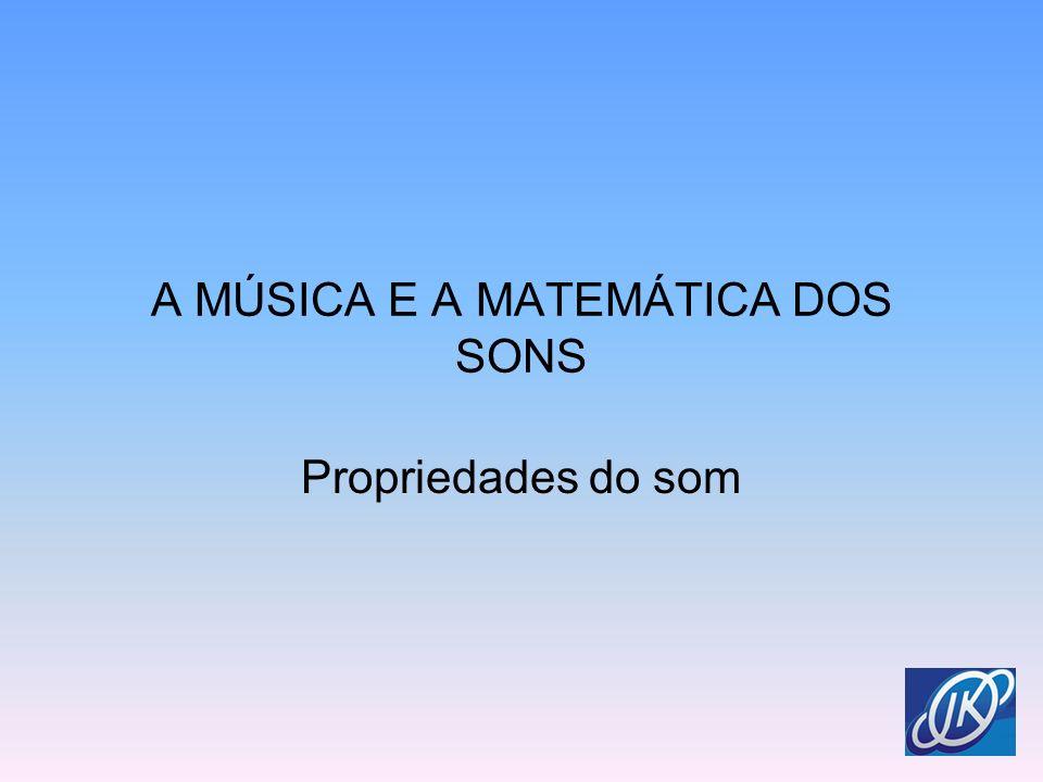 A MÚSICA E A MATEMÁTICA DOS SONS