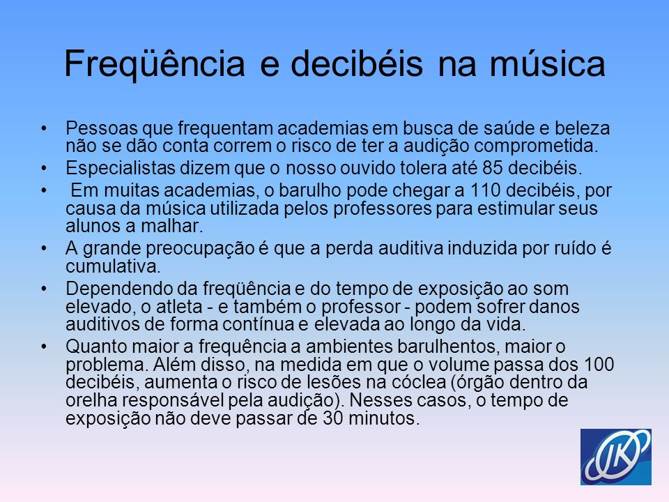 Freqüência e decibéis na música