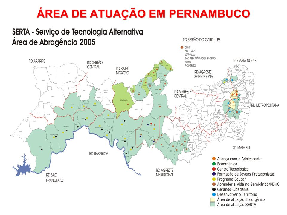 ÁREA DE ATUAÇÃO EM PERNAMBUCO