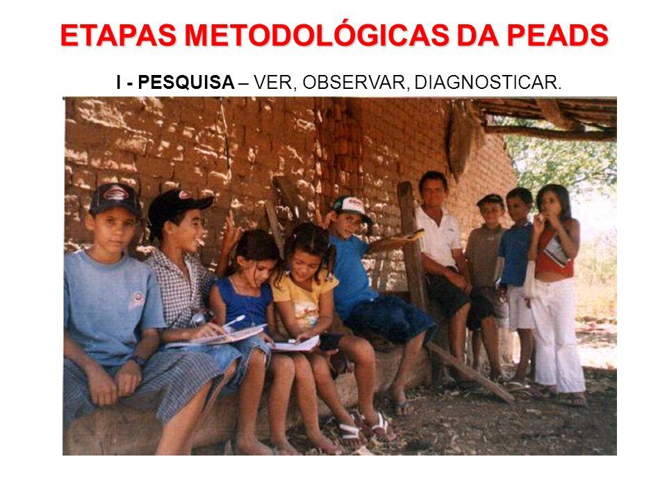 I - PESQUISA – VER, OBSERVAR, DIAGNOSTICAR.