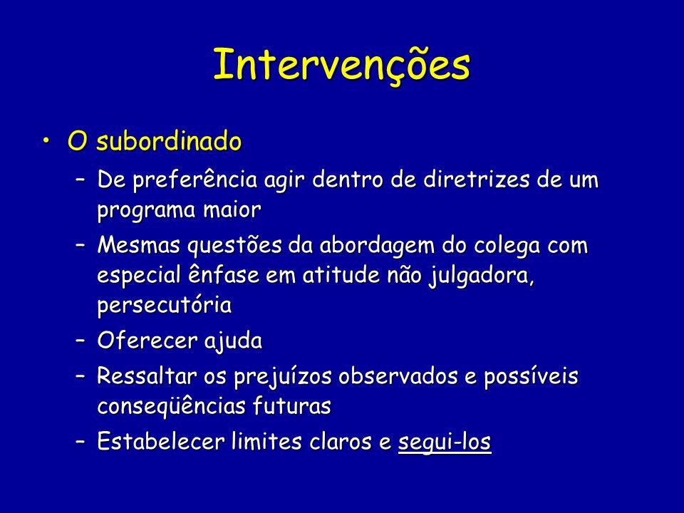 Intervenções O subordinado
