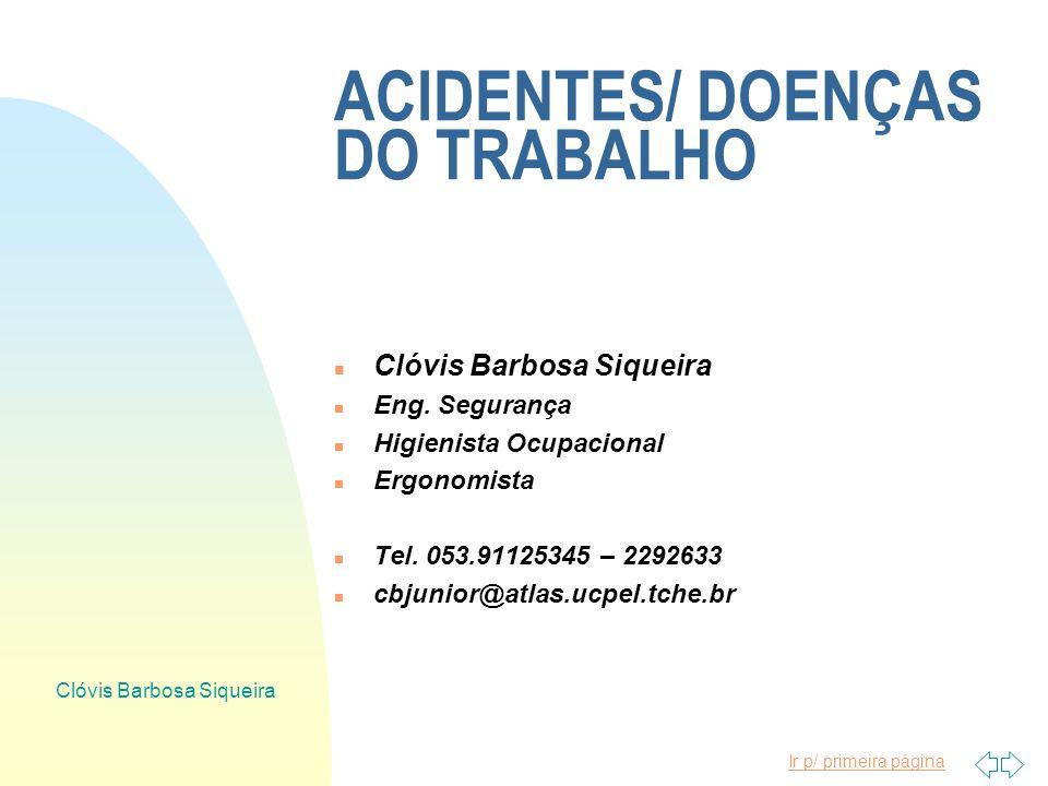 ACIDENTES/ DOENÇAS DO TRABALHO