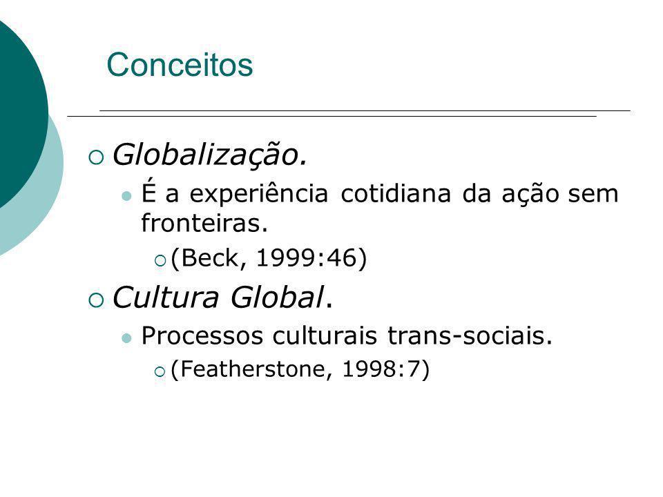 Conceitos Globalização. Cultura Global.
