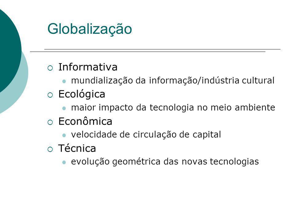 Globalização Informativa Ecológica Econômica Técnica