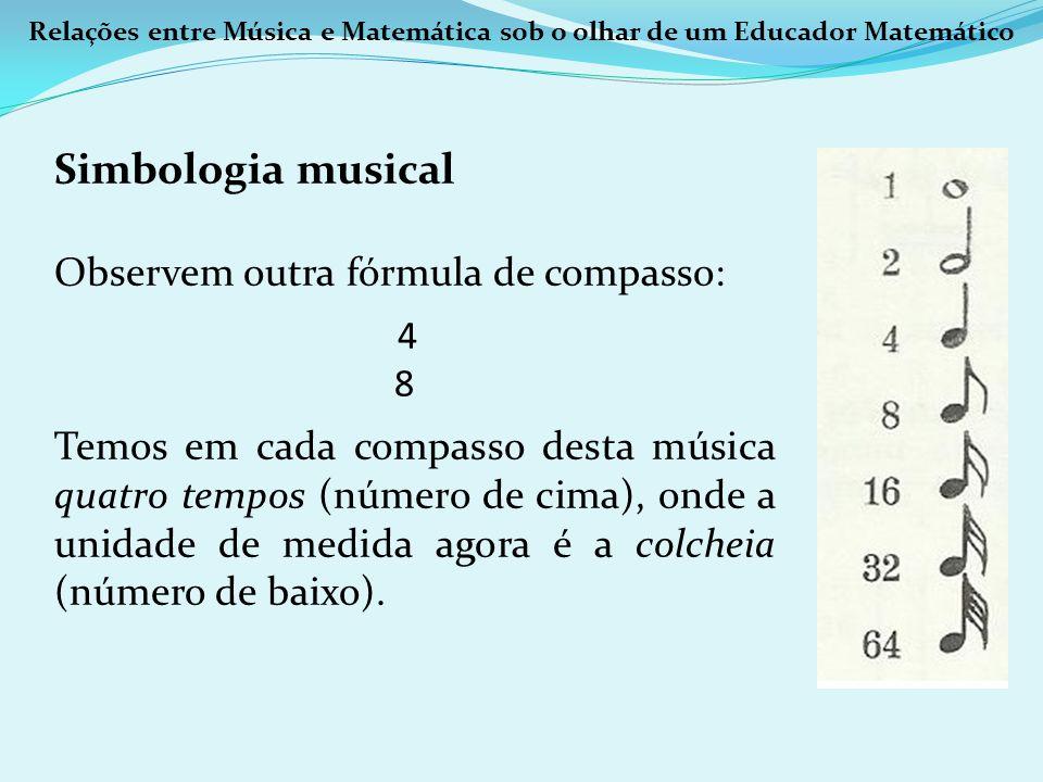 Simbologia musical Observem outra fórmula de compasso: 4 8