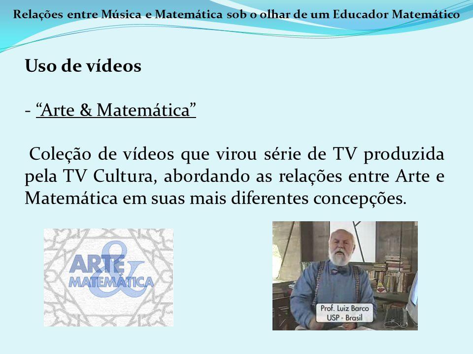 Uso de vídeos Arte & Matemática