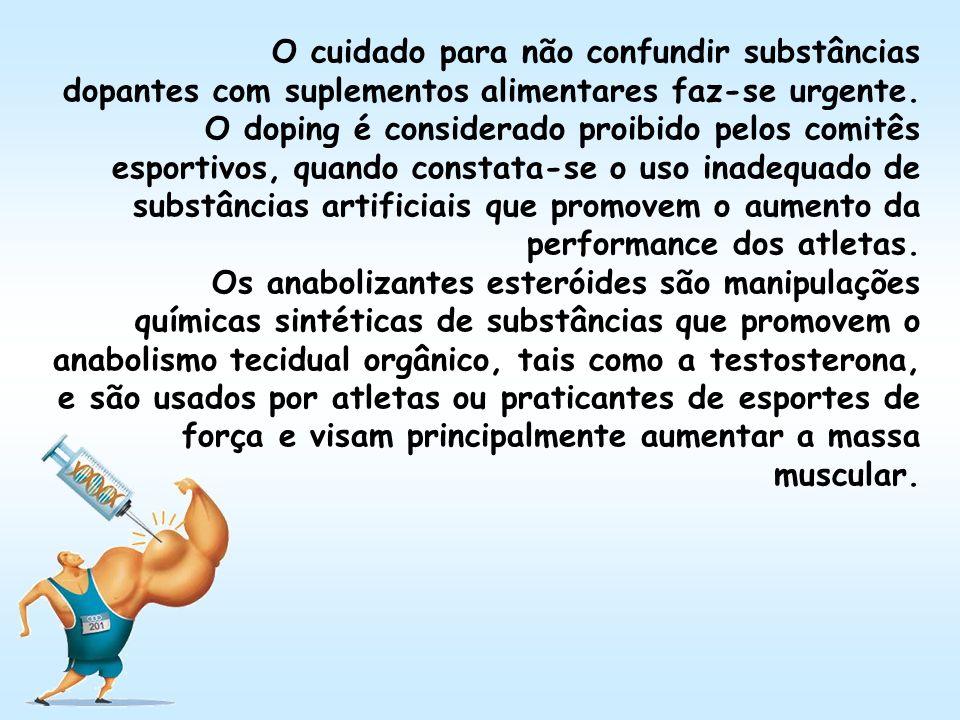 O cuidado para não confundir substâncias dopantes com suplementos alimentares faz-se urgente.