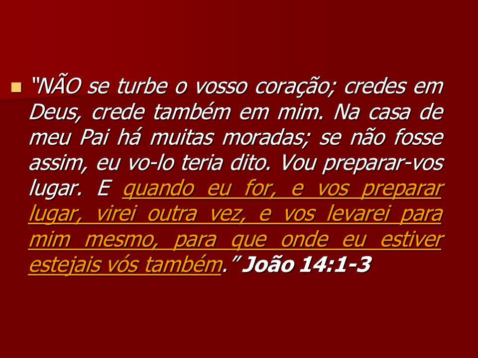 NÃO se turbe o vosso coração; credes em Deus, crede também em mim