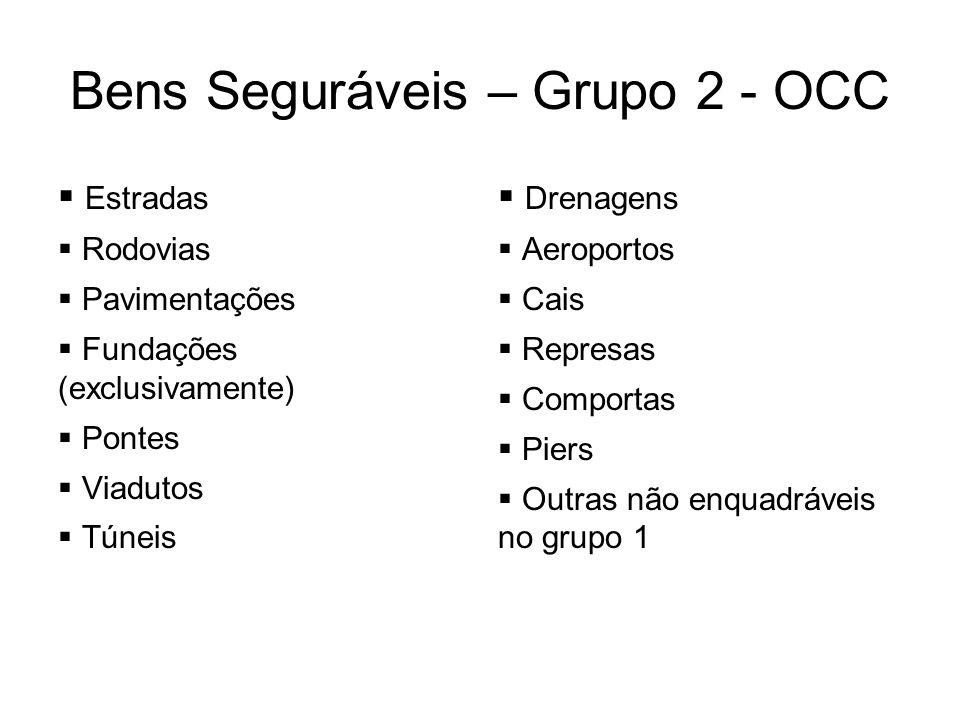 Bens Seguráveis – Grupo 2 - OCC