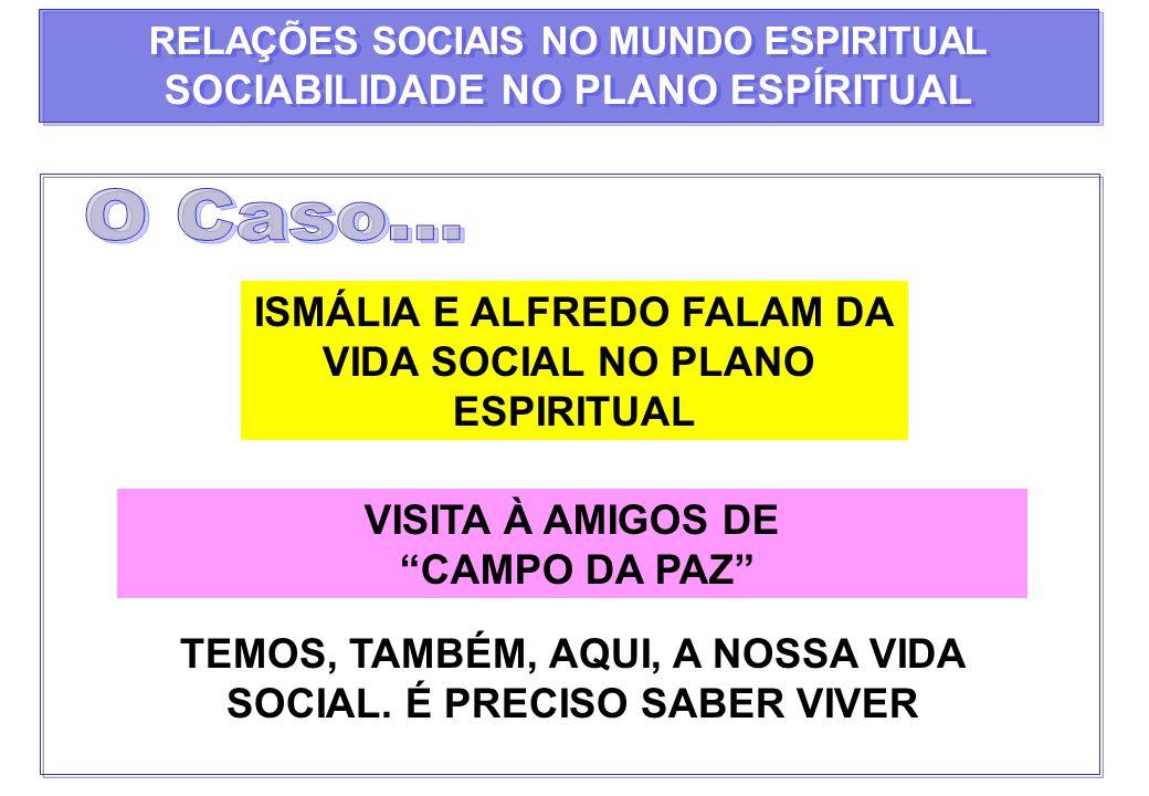 O Caso... SOCIABILIDADE NO PLANO ESPÍRITUAL ISMÁLIA E ALFREDO FALAM DA