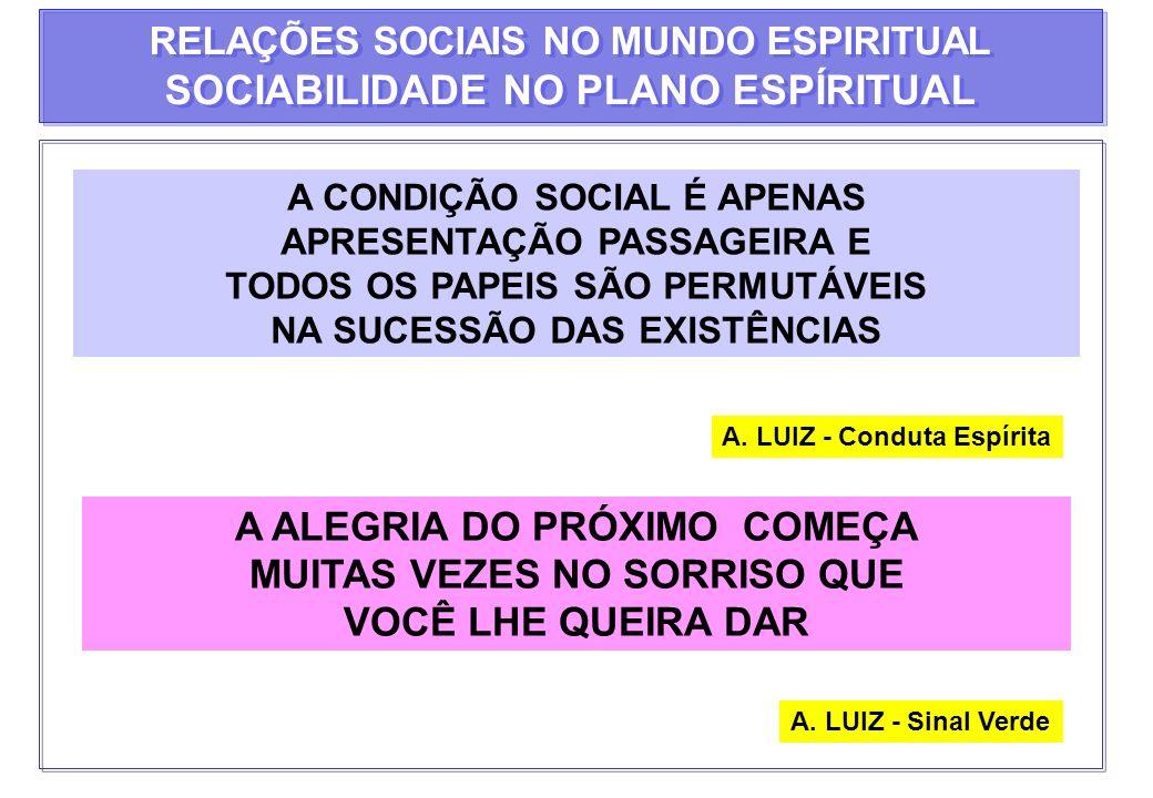 SOCIABILIDADE NO PLANO ESPÍRITUAL
