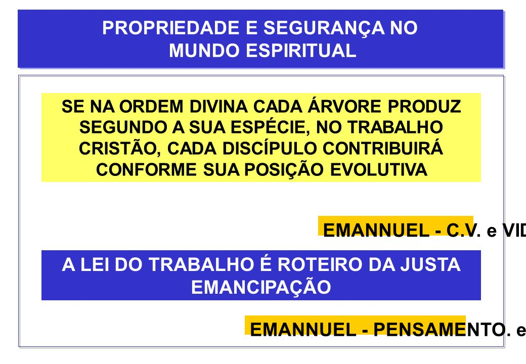 PROPRIEDADE E SEGURANÇA NO MUNDO ESPIRITUAL