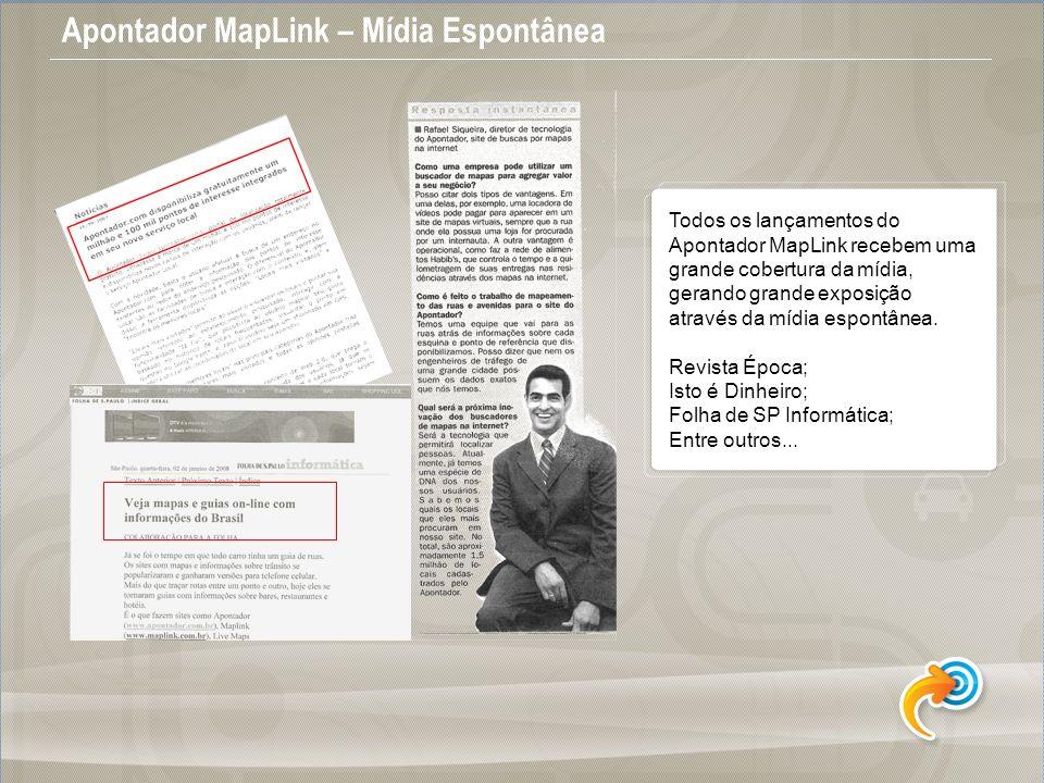 Apontador MapLink – Mídia Espontânea