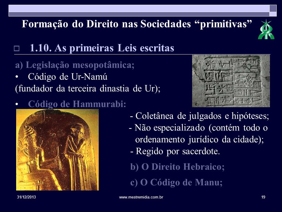 Formação do Direito nas Sociedades primitivas