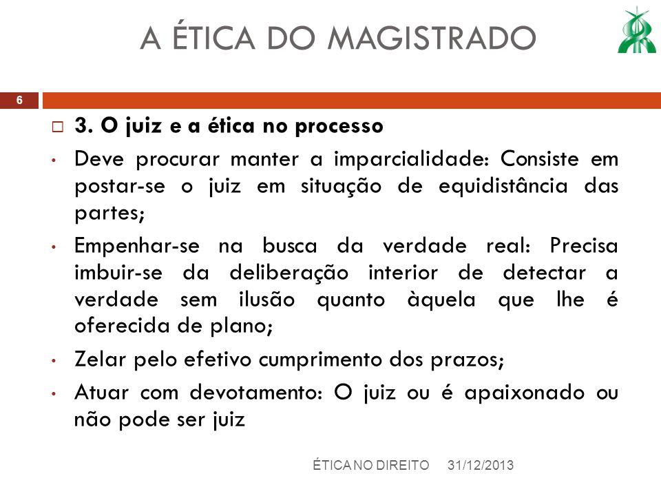 A ÉTICA DO MAGISTRADO 3. O juiz e a ética no processo