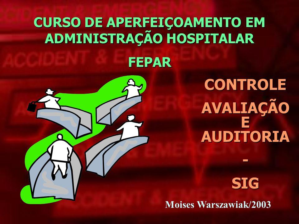 CURSO DE APERFEIÇOAMENTO EM ADMINISTRAÇÃO HOSPITALAR