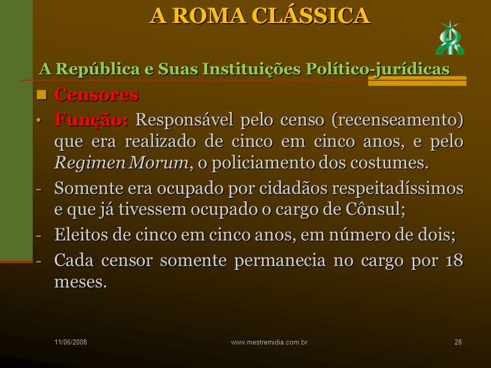 A ROMA CLÁSSICA Censores