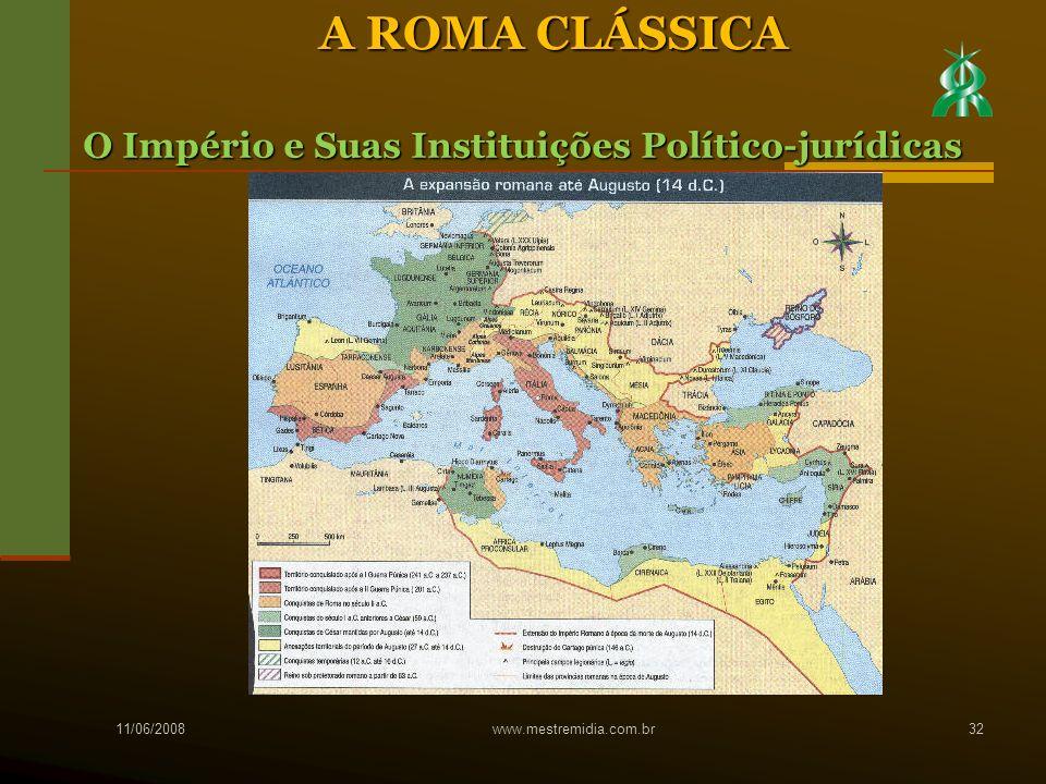 A ROMA CLÁSSICA O Império e Suas Instituições Político-jurídicas