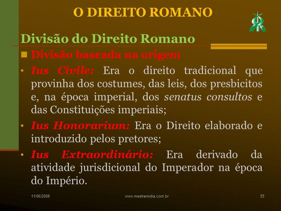 Divisão do Direito Romano
