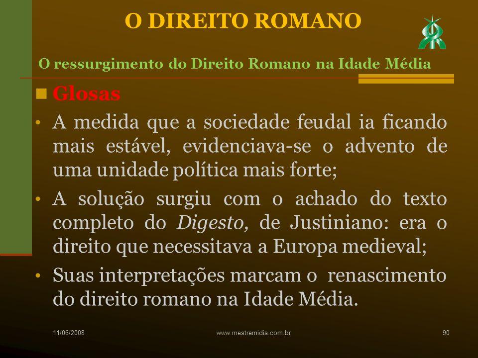 O DIREITO ROMANO Glosas