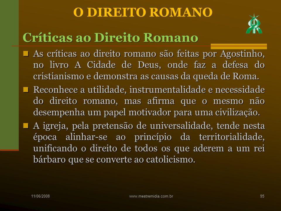 Críticas ao Direito Romano