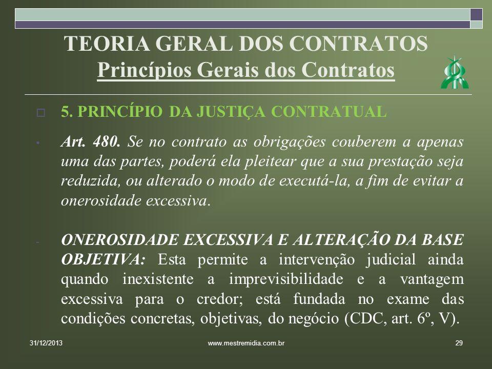 TEORIA GERAL DOS CONTRATOS Princípios Gerais dos Contratos