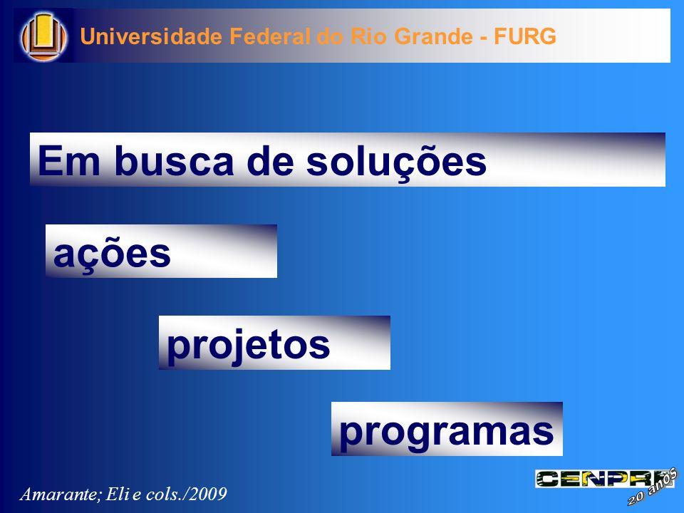 Em busca de soluções ações projetos programas